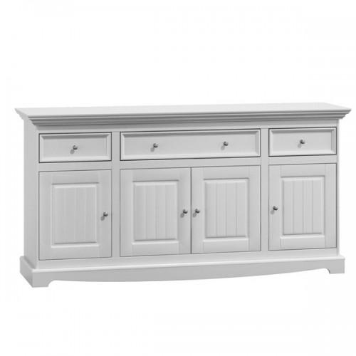 Bílý nábytek Belluno Elegante, 4.3 dřevěná komoda, bílá, masiv, borovice 232019142