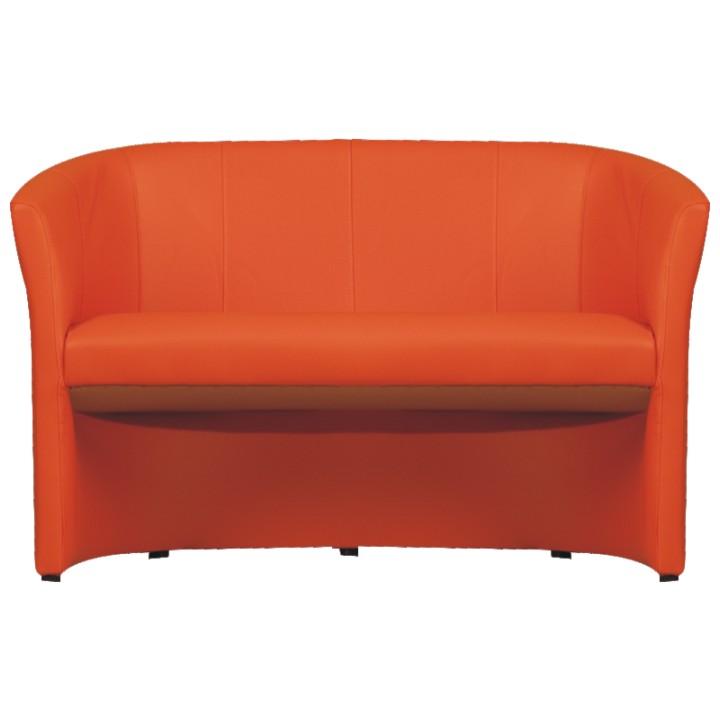 Dvojkřeslo ve stylovém provedení ekokůže oranžová CUBA