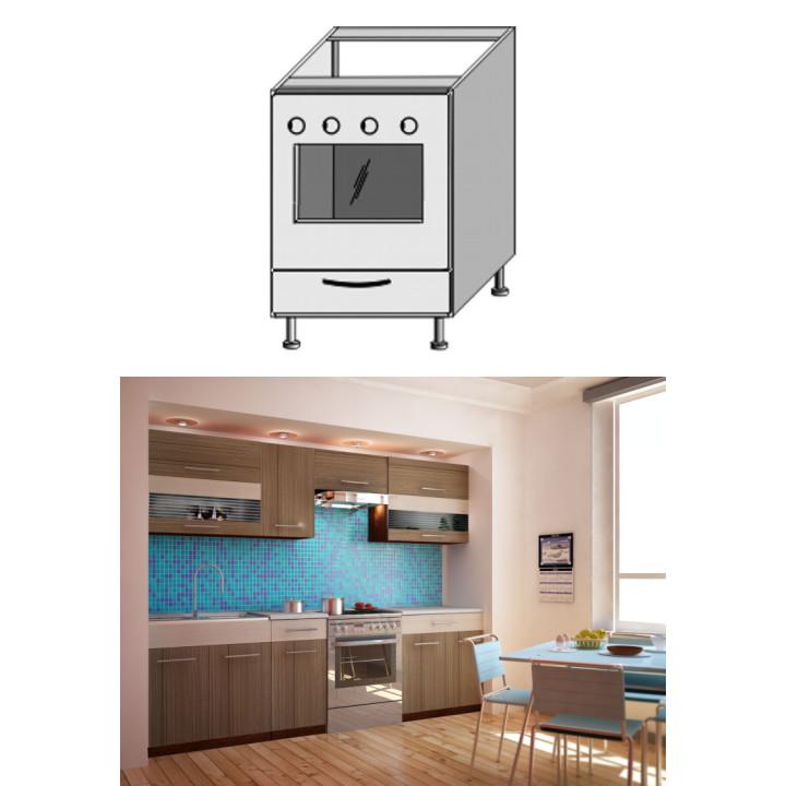 Kuchyňská skříňka na sporák, light, JURA NEW I ZK-60 K1