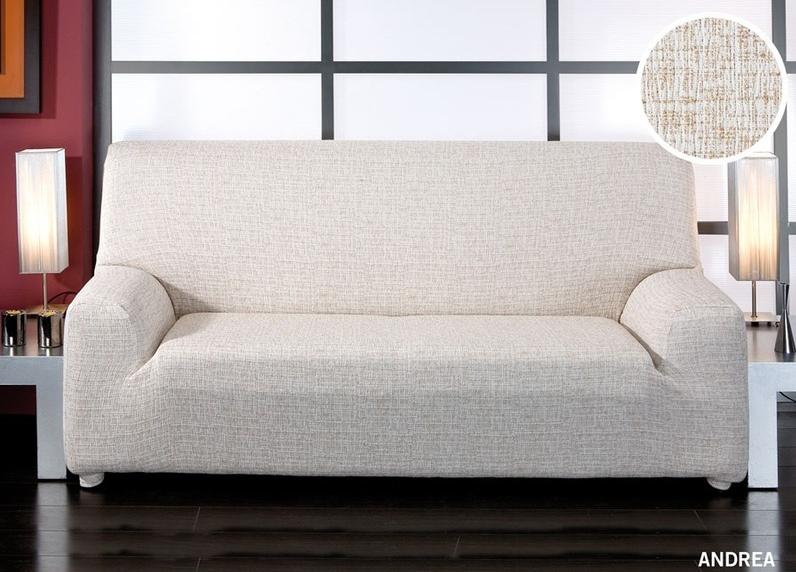 Forbyt, Potah elastický na sedací soupravu, Andrea, béžová čtyřkřeslo - š. 220 - 260 cm