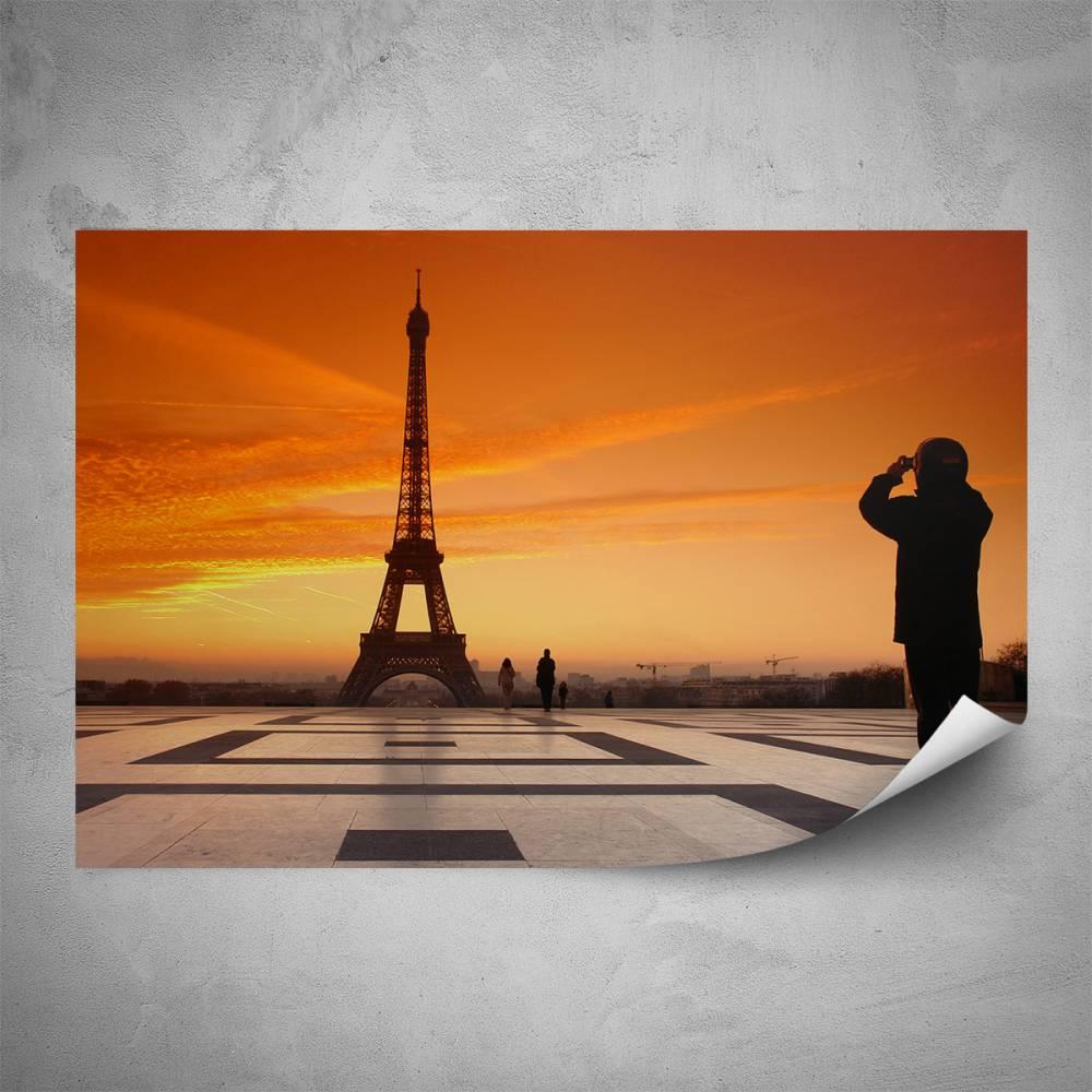 Plakát - Výhled na Eiffelovku (60x40 cm)