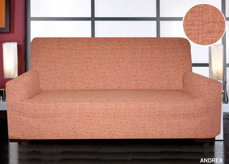 Forbyt, Potah elastický na sedací soupravu, Andrea, cihlová čtyřkřeslo - š. 220 - 260 cm