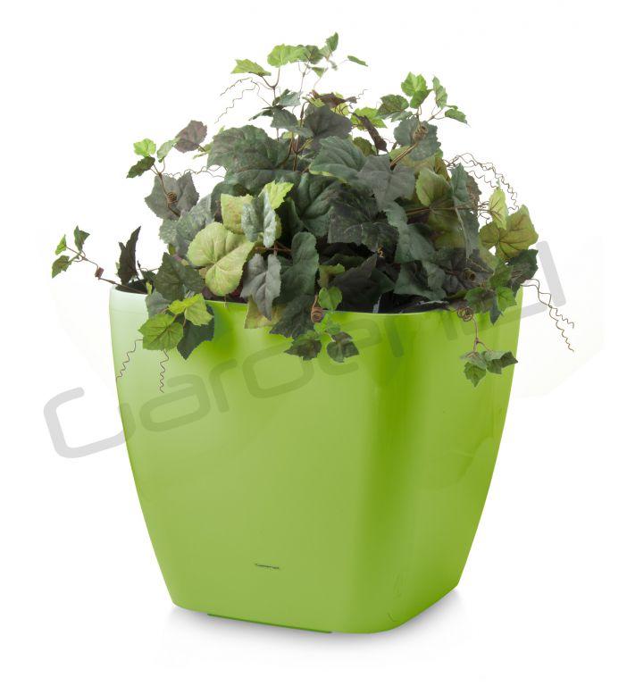 Samozavlažovací květináč G21 Cube maxi zelený 45cm