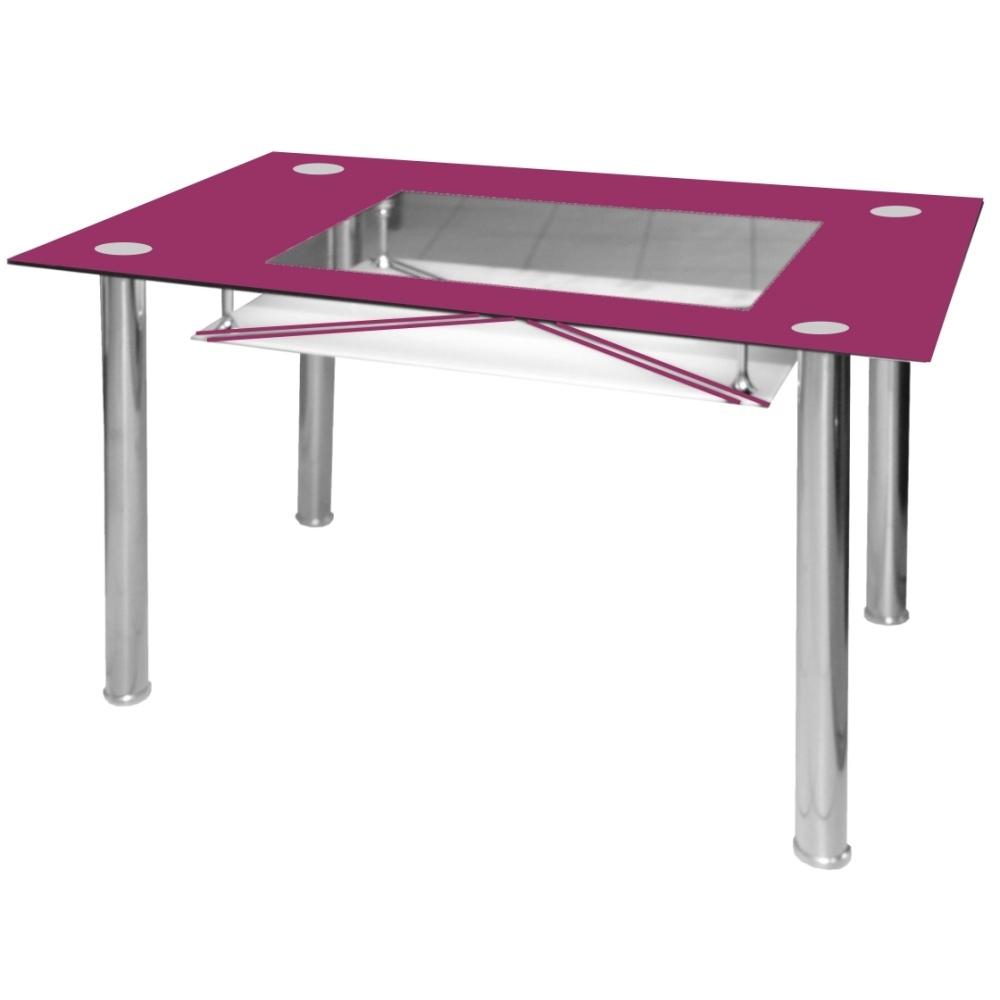 Jídelní stůl skleněný F056 fialový