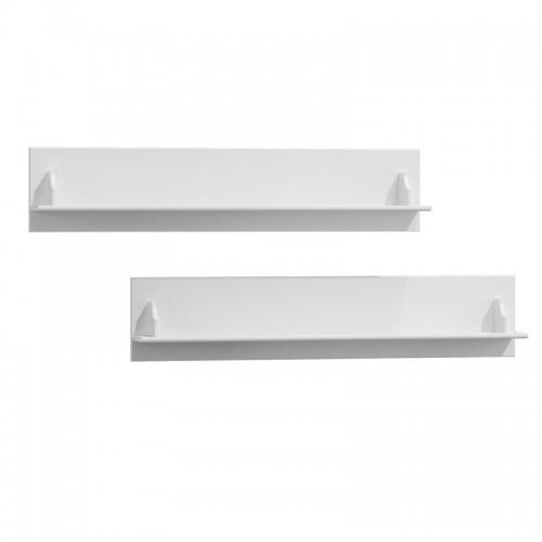 Bílý nábytek Bílé dřevěné police Belluno Elegante, 2ks, masiv, borovice 232019117 25 cm x 120 cm
