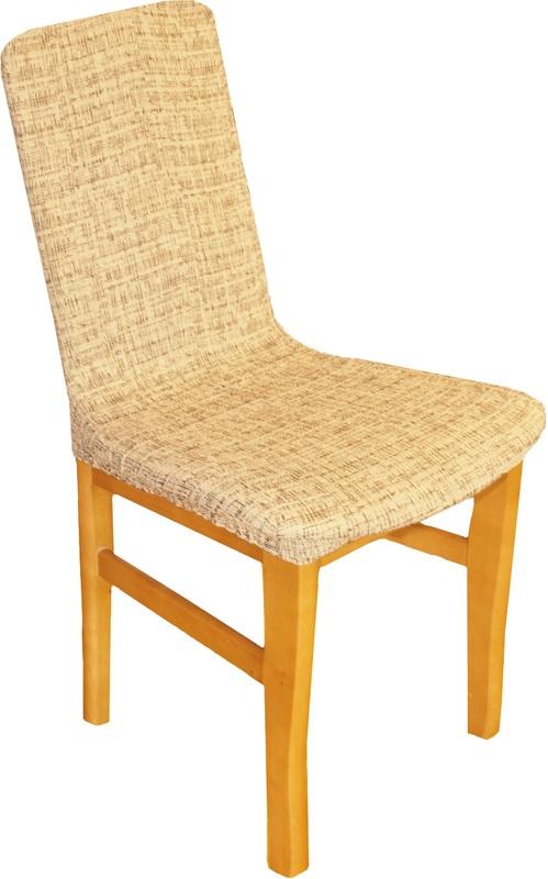 Forbyt,  Potah elastický na židle, Andrea hnědá komplet 2 ks
