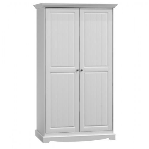 Bílý nábytek Šatní skříň Belluno Elegante 2D, bílá, masiv, borovice 232019143