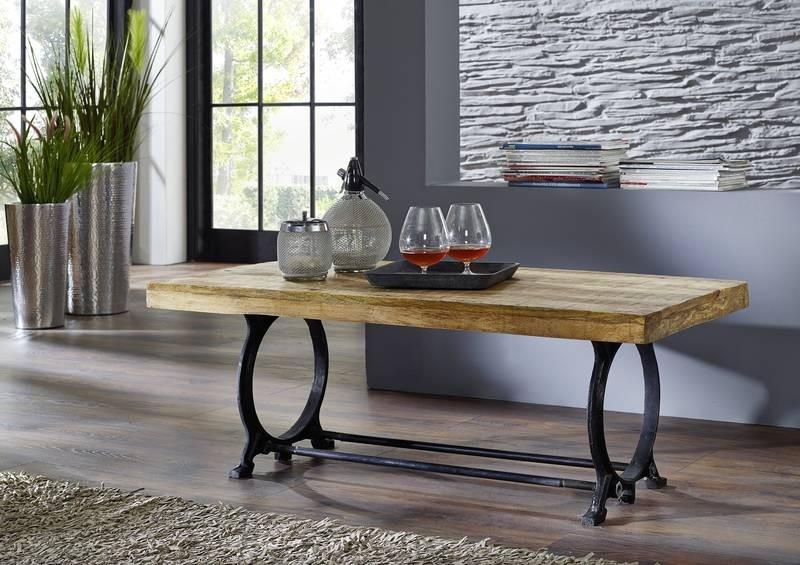 Masiv24 - INDUSTRY konferenční stolek, litina a staré dřevo