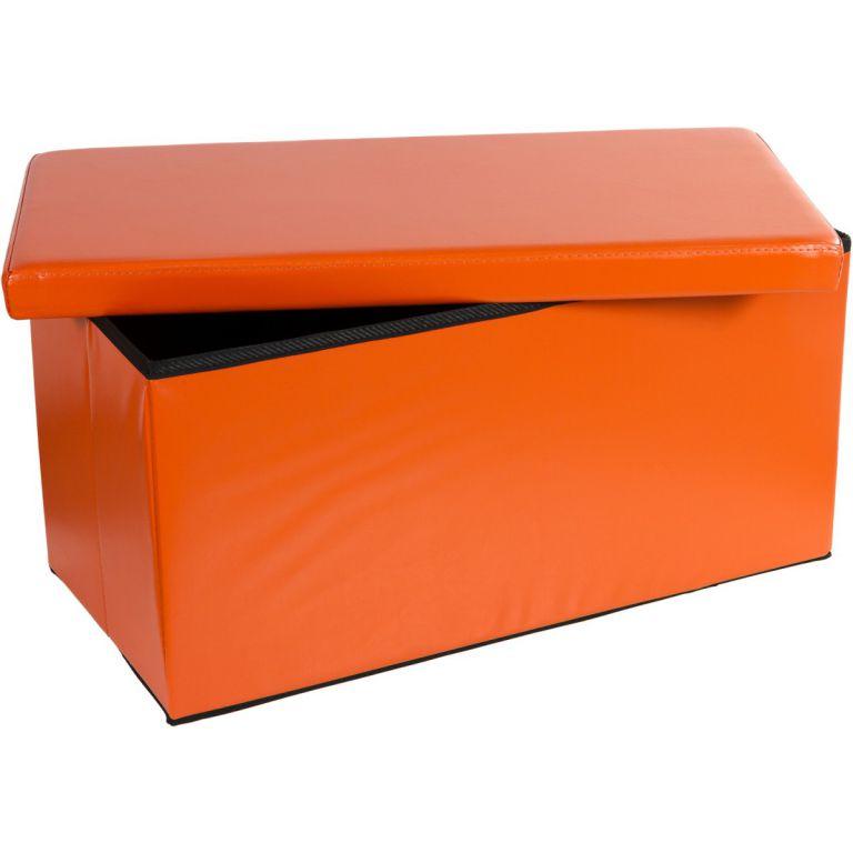 Skládací lavice s úložným prostorem - oranžová OEM M30651