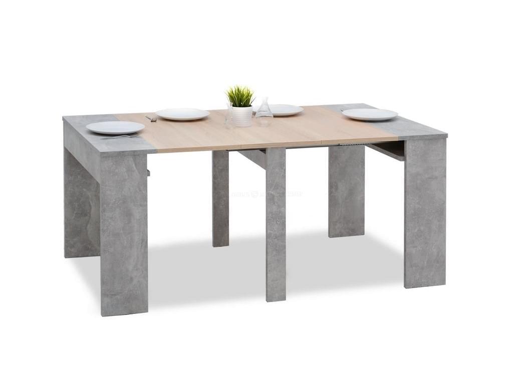 design4life Jídelní stůl MERGADO beton/sonoma
