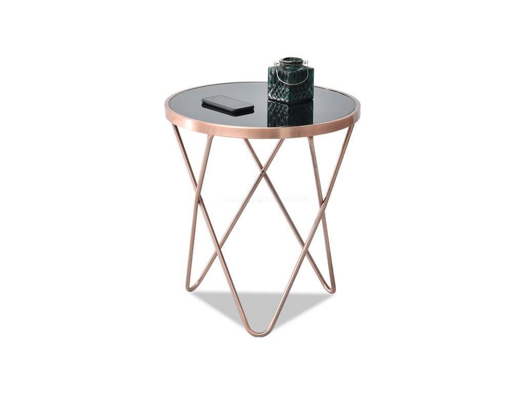 design4life Konferenční-odkládací stolek LELIMA S, měděná/černá