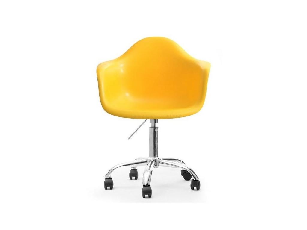 design4life Otočné křeslo MERLOTE žluté