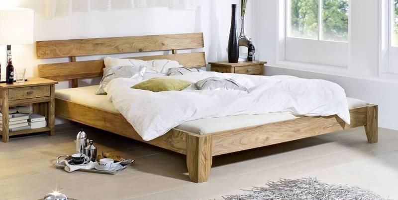 Masiv24 - Masivní indický palisandr, postel 160x200 LIGHT WOOD