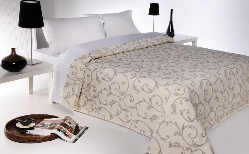 Forbyt  Přehoz na postel, Lis, béžová 140 x 220 cm