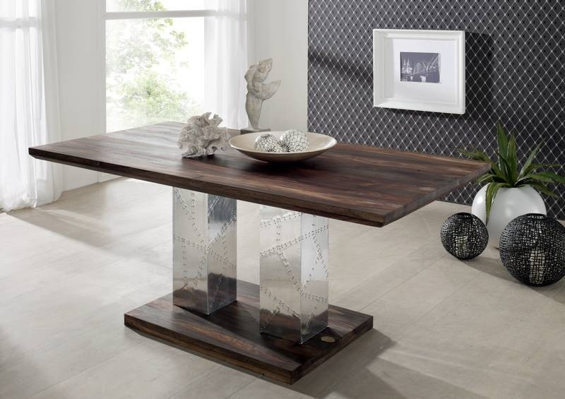 Masiv24 - PLAIN SHEESHAM jídelní stůl 160x90 olejovaný indický palisandr, šedá