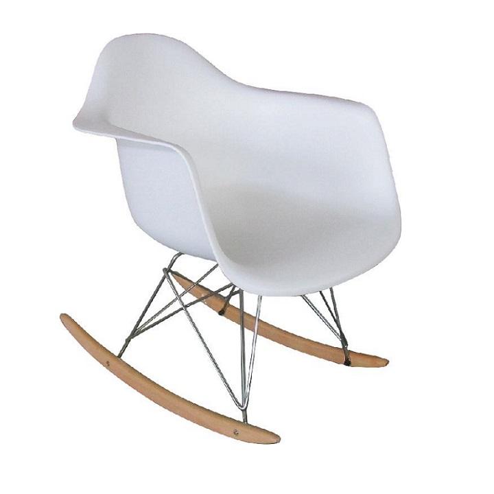 Houpací křeslo v bílé barvě TK2014