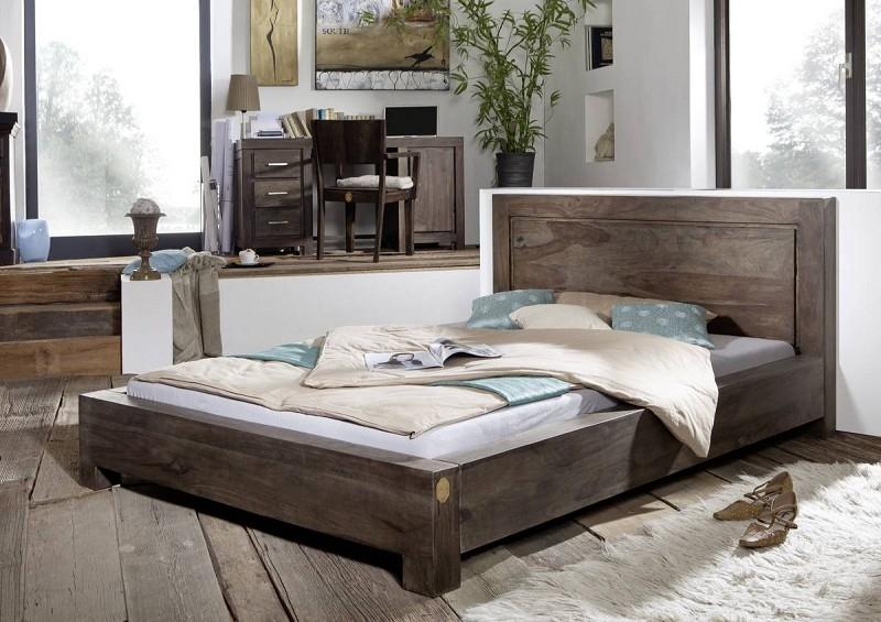 Masiv24 - Sheesham postel 140x200, masivní palisandrové dřevo MONTANA