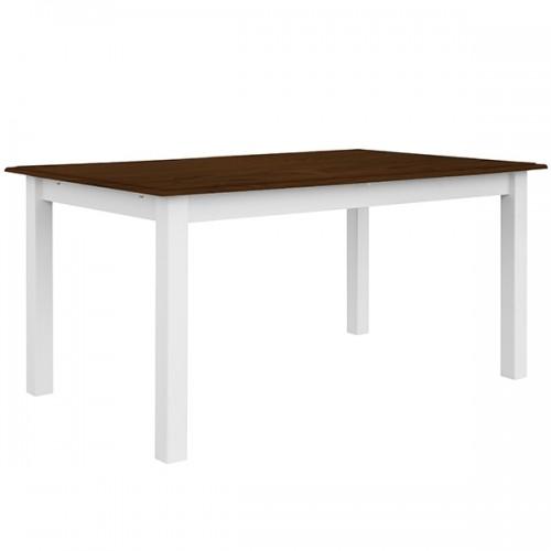 Bílý nábytek Jídelní stůl Belluno Elegante, dekor bílá-ořech, masiv, borovice 336442620