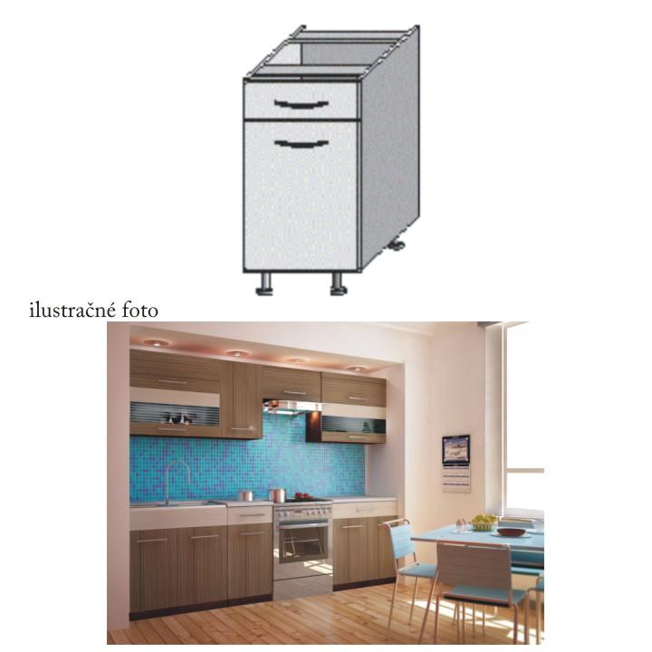 Kuchyňská skříňka, rigoleto dark/light, JURA NEW I D-40
