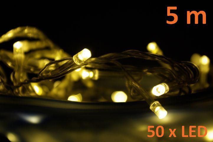 Nexos 820 Vánoční LED osvětlení 5 m - teple bílé, 50 diod