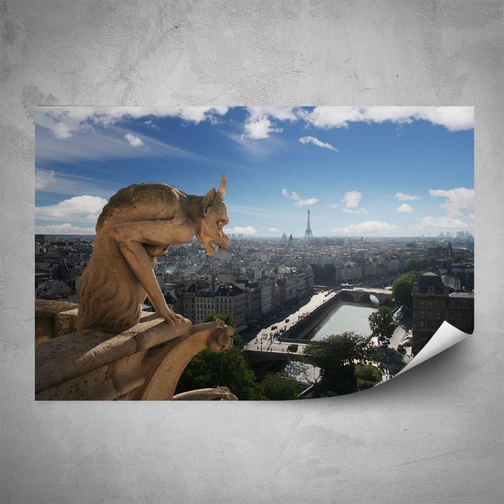 Plakát - Chrliče Notre Dame (60x40 cm)