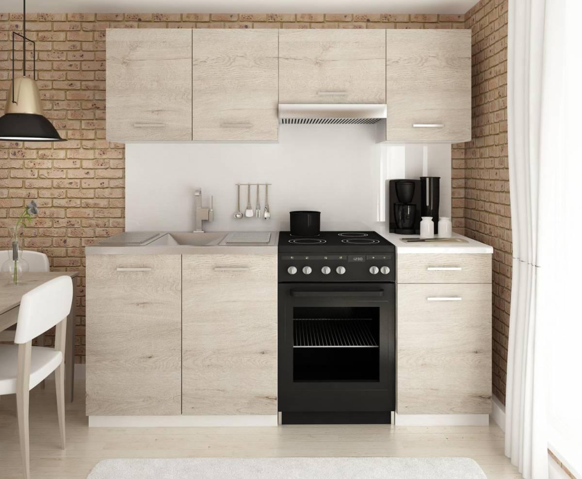 Moderní kuchyňská linka v dekoru dub sonoma 180 cm F1427